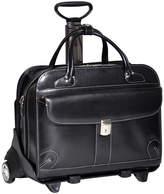 McKlein McKleinUSA Lakewood 15.4 Leather Fly-Through Checkpoint-Friendly Detachable -Wheeled Laptop Briefcase