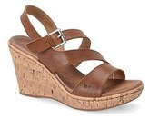 b.ø.c. Womens Schirra Leather Open Toe Casual Wedged Sandals.