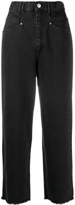 Isabel Marant High-Waisted Frayed Jeans