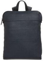 Ermenegildo Zegna Men's Woven Leather Backpack - Blue