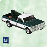Hallmark 2003 Ornament 1972 Chevrolet Cheyenne Super # 9 Series Die-Cast Metal