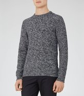 Reiss Gerry - Textured Crew Neck Jumper in Blue, Mens