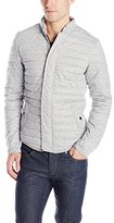 Scotch & Soda Men's Fitted Down Jacket with Horizontal Quilting