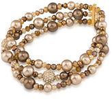 Carolee Faux Pearl Stretch Bracelet