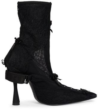 Balenciaga Lingerie Knife Lace Ankle Boots