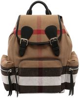 Burberry Medium Rucksack Check & Leather Backpack