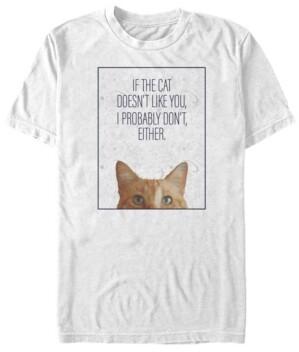 Marvel Men's Captain the Cat Doesn't Like You, Short Sleeve T-shirt