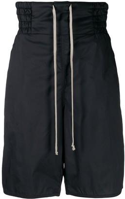 Rick Owens Drop-Crotch Drawstring Shorts