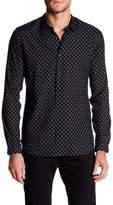 The Kooples Dandelion Print Trim Fit Button Up Shirt
