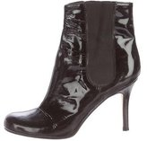 Kate Spade Round-Toe Patent Leather Ankle Boots