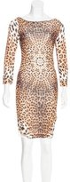 Just Cavalli Printed Knee-Length Dress