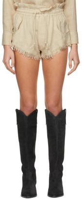 Isabel Marant Beige Talapiz Shorts