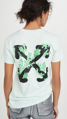 Off-White Off White Corals Print Casual Tee