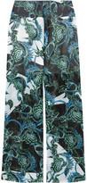 Just Cavalli Floral-Print Georgette Wide-Leg Pants