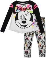 Disney Toddler Girls' Minnie Mouse Raglan Top and Leggings Set