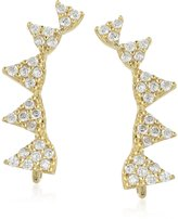 Lucky Brand Pave Triangle Crawler Earrings