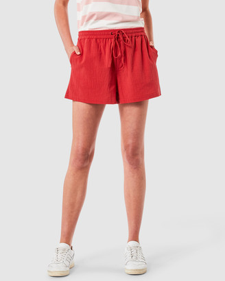 Elwood Women's Red Shorts - Ruby Short - Size One Size, 10 at The Iconic
