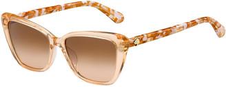 Kate Spade Lucca Acetate Cat-Eye Sunglasses