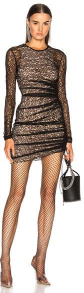 Alexander Wang Asymmetric Lace Mini Dress
