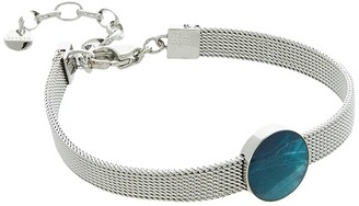 Skagen Agnethe Silver-Tone Steel-Mesh and Mother-of-Pearl Bracelet (Silver-SKJ1342040) Bracelet