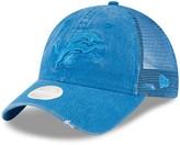New Era Women's Blue Detroit Lions Tonal Washed Trucker 9TWENTY Adjustable Hat
