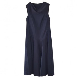 Cos Navy Cotton - elasthane Dress for Women