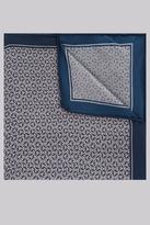 Hardy Amies Navy & Grey Geo Silk Pocket Square