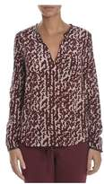 Atos Lombardini Women's Burgundy Silk Blouse.