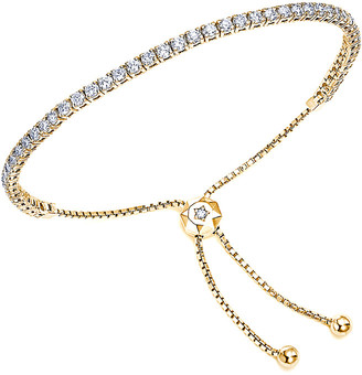 Suzy Levian 14K 1.30 Ct. Tw. Diamond Bolo Adjustable Bracelet