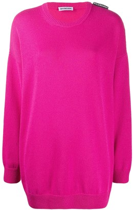 Balenciaga Pink Over-size Cashmere Sweater