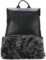 Emporio Armani fur panel backpack