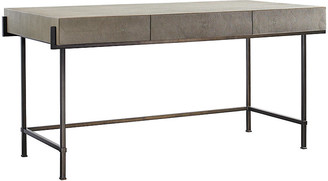 Simone Desk - Taupe - Lillian August - frame, bronze; top, taupe