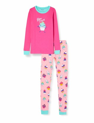 Hatley Girl's Organic Cotton Long Sleeve Applique Pyjama Sets