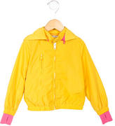 Stella McCartney Girls' Hooded Windbreaker Jacket