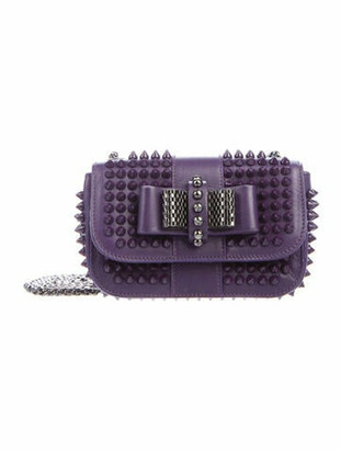 Christian Louboutin Mini Sweet Charity Crossbody Bag Purple