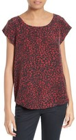 Joie Women's Rancher N Print Silk Cap Sleeve Top