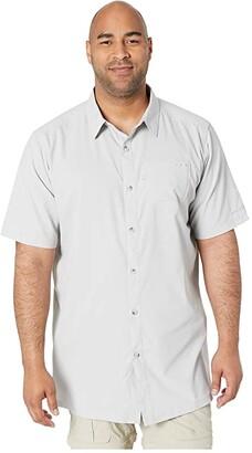 Columbia Big Tall Slack Tide Camp Shirt (Cool Grey) Men's Short Sleeve Button Up