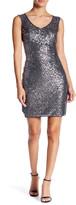 Marina Illusion Sequined Dress