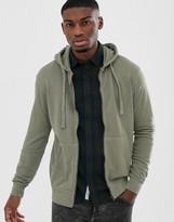ONLY & SONS zip thru sweat hoodie