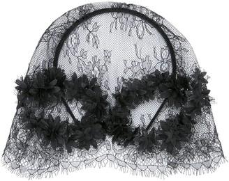 Maison Michel Pola floral-lace hat