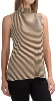 Cable & Gauge Striped Mock Neck Tank Top (For Women)
