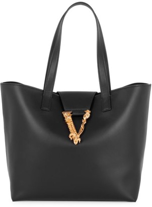 Versace Virtus Leather Tote