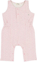 Bonnie Baby Rabbit-Print Cotton Romper