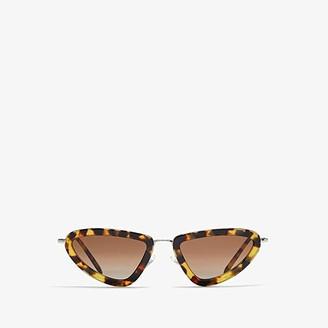 Miu Miu 0MU 60US (Medium Havana/Light Brown Gradient) Fashion Sunglasses