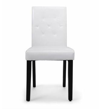 Winston Porter Hayots Tufted Upholstered Parsons Chair in White Winston Porter