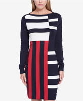 Tommy Hilfiger Mixed-Stripe Sweater Dress, Created for Macy's