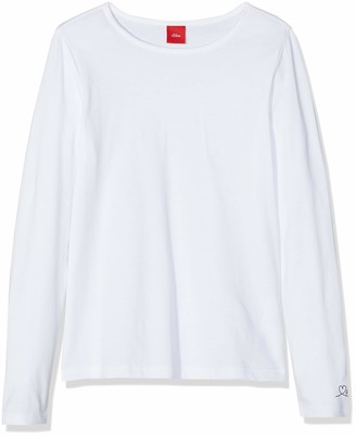 S'Oliver girls 54.899.31.0464 Plain Regular Fit Longsleeve T - Shirt