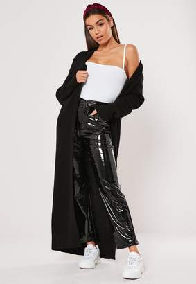 Missguided Black Knitted Maxi Cardigan