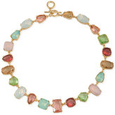 Carolee Gold-Tone Multicolor Multi-Stone Collar Necklace