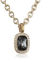 Dyrberg/Kern Dyrberg / Kern Women's Necklace without Pendant 15 / 02 Dolla Sg Grey Stainless Steel Partially Gold-Plated Crystal Grey 50 CM - 337643